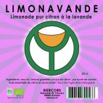 LIMONAVANDE limonadebiologique pur citron à la lavande BIERCORS Brasserie du Vercors AUTRANS Bière du Vercors