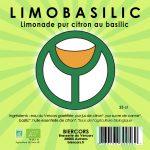 limobasilic limonade biologique pur citron au basilic BIERCORS Brasserie du Vercors AUTRANS Bière du Vercors